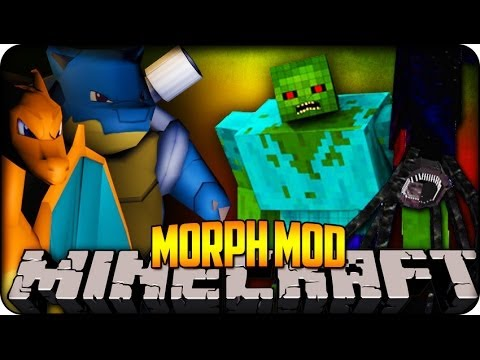 Minecraft Mods - MORPH MOD - BECOME ANY PIXELMON, MUTANT ZOMBIE OR EVEN MOBZILLA