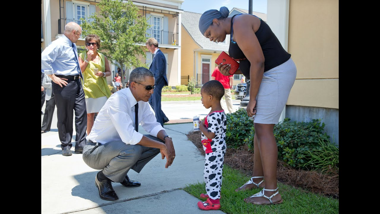 The President Tours Faubourg Lafitte Neighborhood in New Orleans