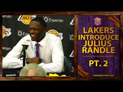Lakers Introduce Julius Randle (pt. 2) - Updates On His Foot, Why He Chose No. 30 video