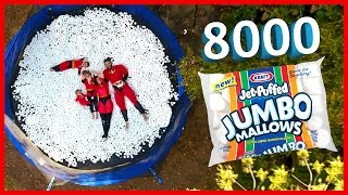8,000 MARSHMALLOWS ON TRAMPOLINE | THE INCREDIBLES‼️