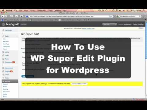HOW TO: Use WP Super Edit For Easy Formatting (Wordpress Plugin Tutorial)