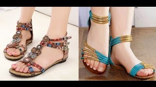 Summer Stylish Flat Sandals Collection 2017