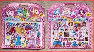 Đồ chơi dán hình và tô màu thay quần áo cho búp bê thần tiên / Sticker dolly dressing (Chim Xinh)