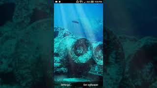 sunken ship live wallpaper