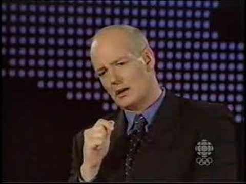 This classic clip from This Hour Has 22 Minutes has Peter Mansbridge interviewing himself (Colin Mochrie).