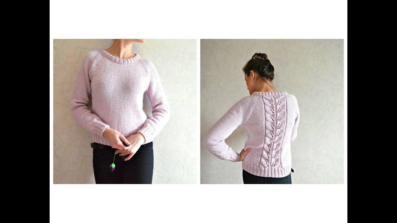 Вязание свитера снизу на ютубе