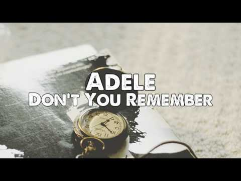 Adele - Dont You Remember (Piano Instrumental)