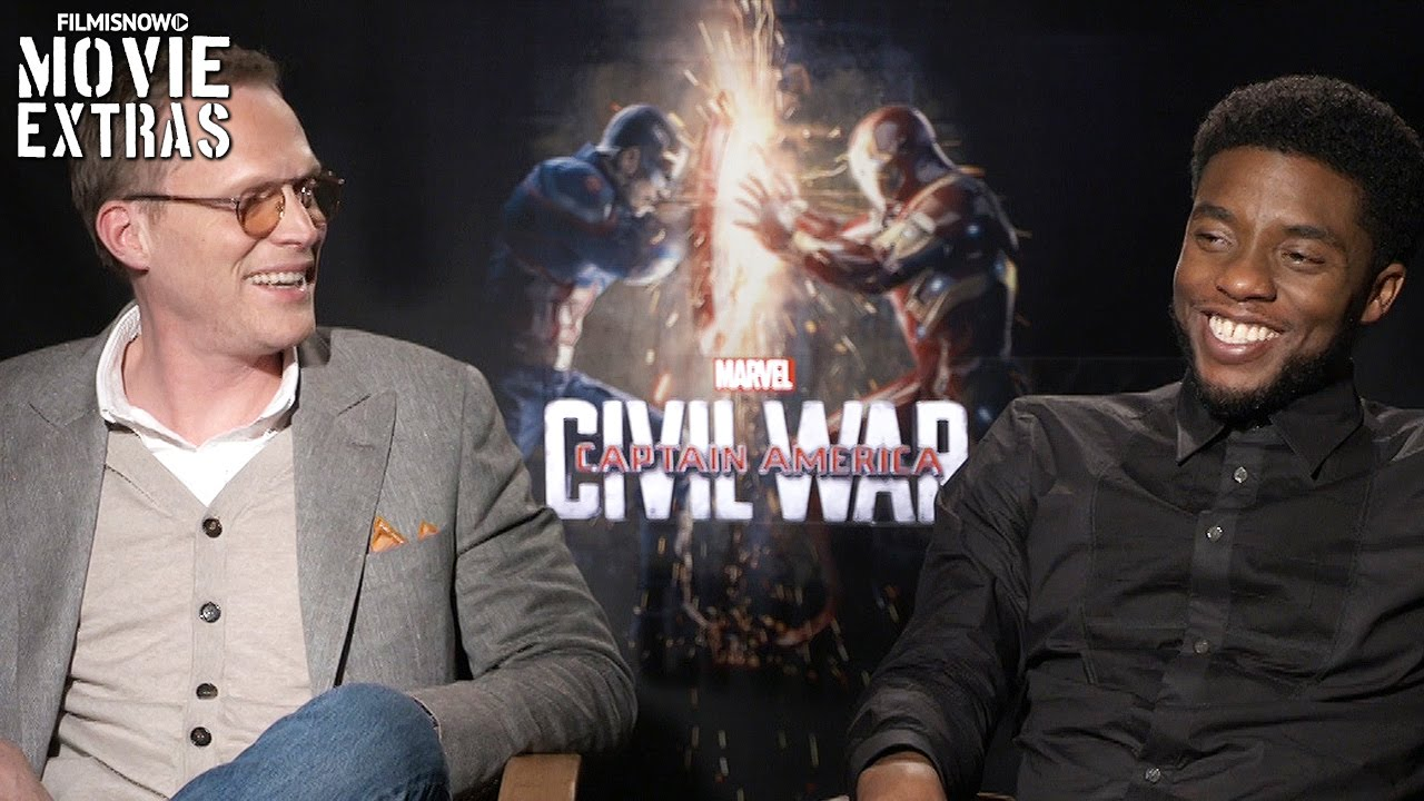 Paul Bettany & Chadwick Boseman talk about Captain America: Civil War (2016)