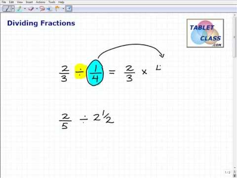 Watch Video On How to Divide Fractions