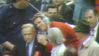1969 WS Gm3: Casey Stengel interviewed during Game 3