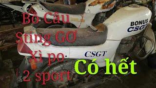 Bãi xe cũ có Xipo- Stinger- Bồ câu CSGT- 2 sport- Exciter |Ngố Nguyễn