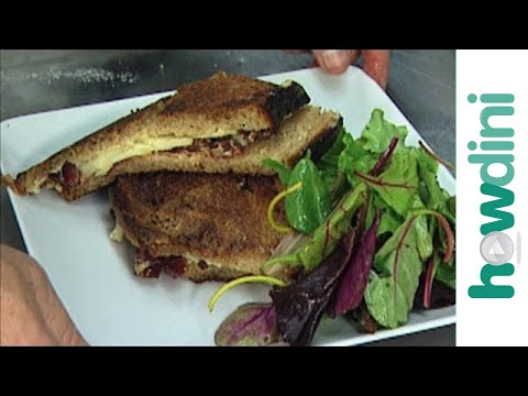 www.howdini.com How to make a gourmet grilled cheese sandwich recipe Grilled