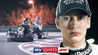 Go Karting with F1's rookies! | George Russell, Lando Norris & Alex Albon