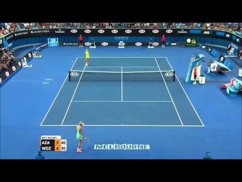 Victoria Azarenka v Caroline Wozniacki highlights (2R) - Australian Open 2015