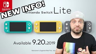 Nintendo Reveals NEW Switch Lite Details!