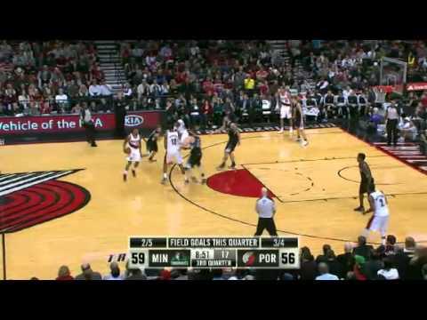 Minnesota Timberwolves vs Portland Trail Blazers 11/23/12