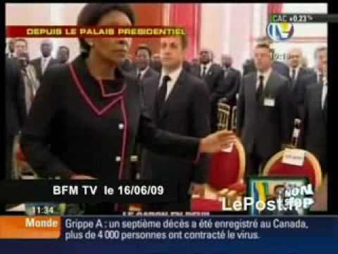 Sarkozy hu aux obsques de Bongo Gabon une vido BFM & Le Post fr