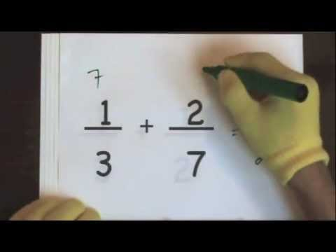 Add Fractions With Unlike Denominators Part 1 video