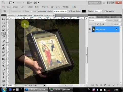 Как сделать перспективу изображения в фотошопе