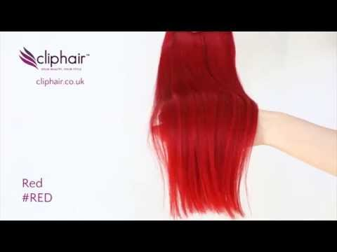 Colour #RED Bright Red by Cliphair.co.uk