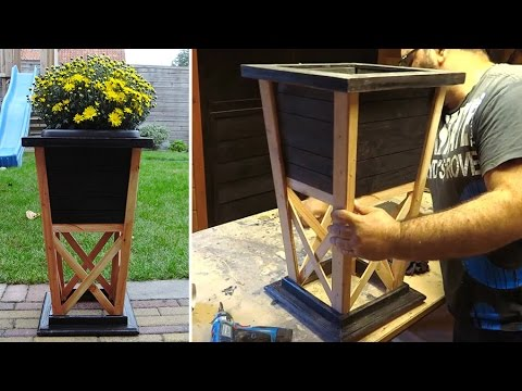 diy wood flower pot from scrap youtube