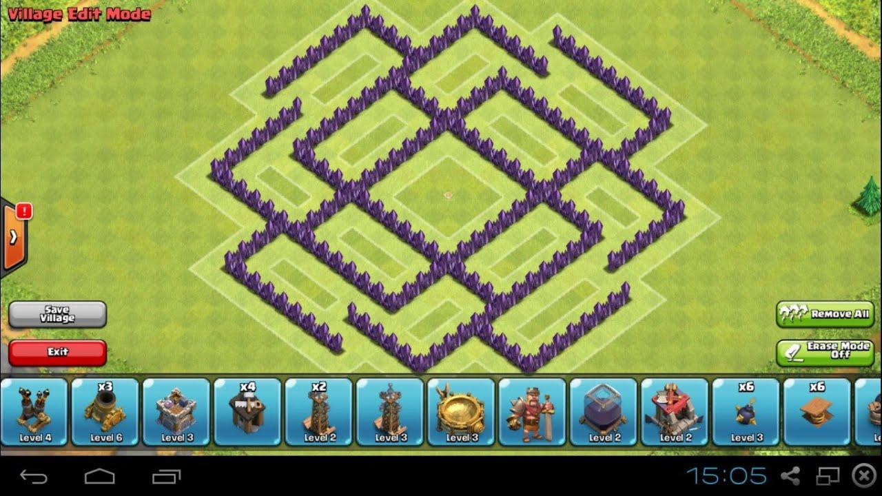 Clash of clans th7 farming base youtube