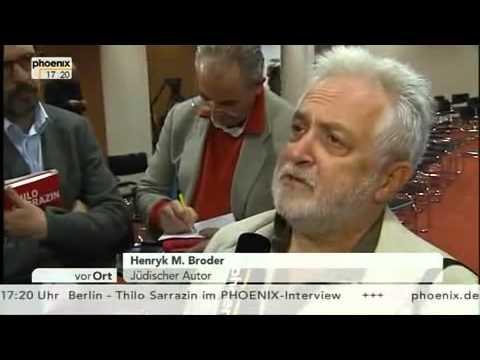 Michel Friedmann & Henryk M  Broder zu Sarrazin Thesen