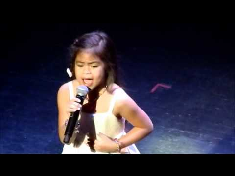 6 YEAR OLD FILIPINA SINGS LISTEN !!! AMAZING
