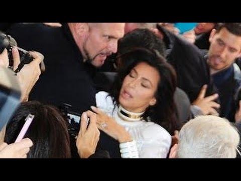 Kim Kardashian Attacked By Fan At Paris Fashion Week With Kanye West