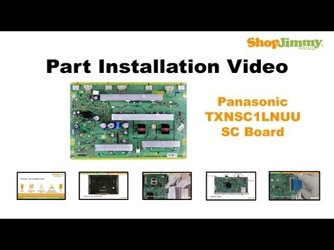 Panasonic TXNSC1LNUU Y Sustain SC Boards Replacement Guide for Panasonic Plasma TV Repair