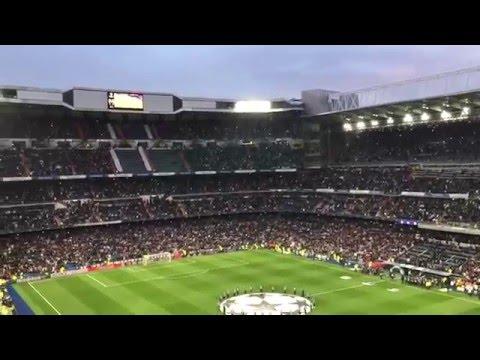 Real Madrid - Wolfsburgo Himnos Décima y Champions 12/04/2016