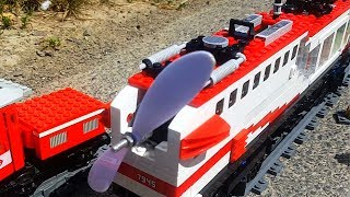 Lego train with PROPELLER at AMAZING 22kmh 14mph