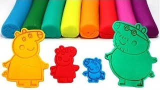 PEPPA PIG Family Play-Doh Molds Learn Color with Peppa, George, Mummy Pig and Daddy Pig