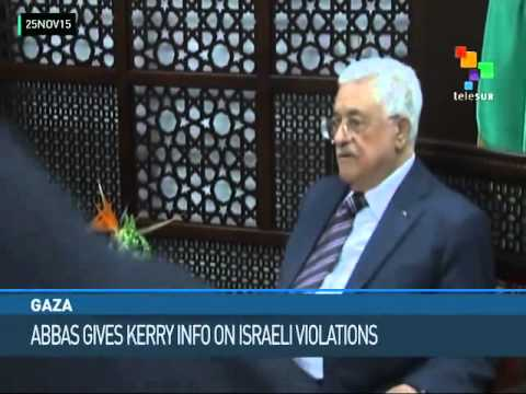 Gaza: Abbas Gives Kerry Info on Israeli Violations