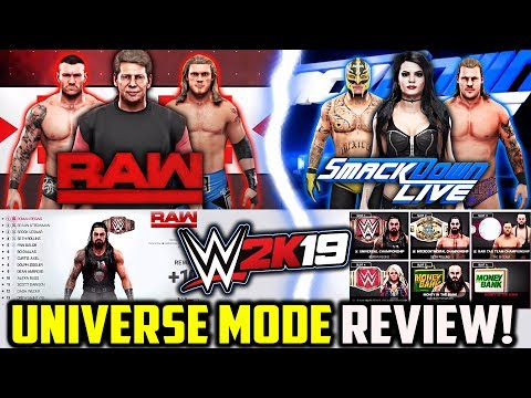 WWE 2K19 Universe Mode REVIEW! *NEW FEATURES!*