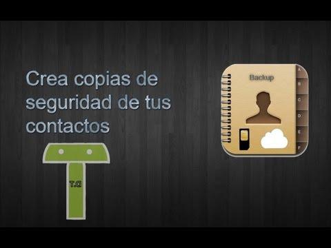 copia de Seguridad de  tus Contactos Android