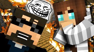 WHAT IS MINECRAFT | BURNING THEIR HOUSE?! #4