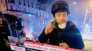 Gilets jaunes à Paris : casseurs extrêmement organiser au champs Elysées et l'arc de Triomphe