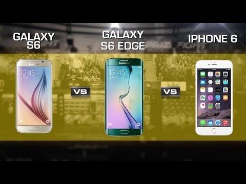 Samsung Galaxy S6 vs. S6 Edge vs. Apple iPhone 6
