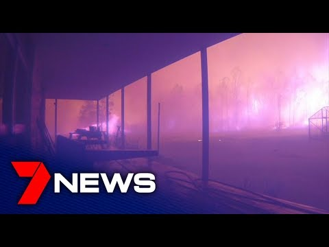 Fire storm hits near home on Hames Road, not far from Nowra | 7NEWS