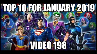 Top 10 for January 2019 | DC Legends Mobile Game | Video 198