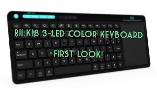Rii K18 3-LED Color 2.4GHz Wireless Keyboard