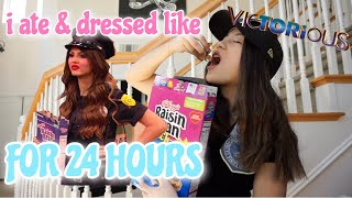 i ate and dressed like TORI VEGA for 24 hours