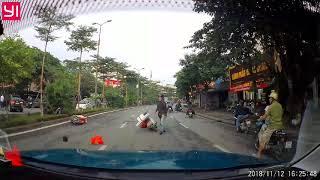 Video 'xe điên' Audi gây tai nạn liên hoàn tại Hà Nội