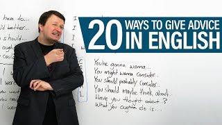 20 ways to give advice in English