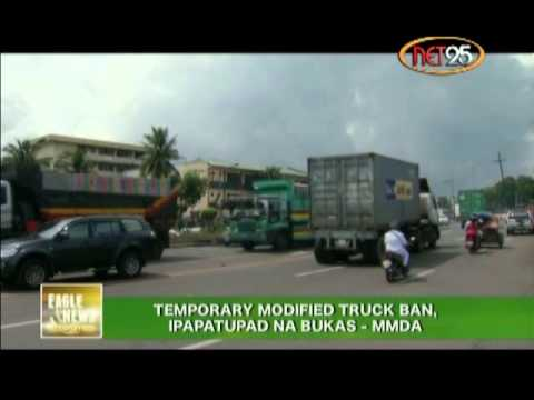 Modified Truck Ban To Be Implemented Tomorrow by MMDA