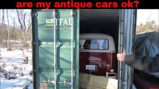 shipping container for antique car storage 6 months later.