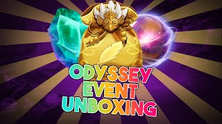 Odyssey event unboxing stuff, 20x odyssey orbs and more.