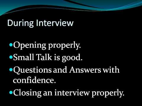 Kristi Wiersema- Informational Presentation upon Interviewing Skills