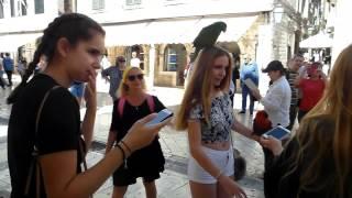 Прикольные попугаи в Дубровнике
